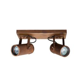 image-Dundee 2-Light 8.5cm LED Ceiling Spotlight Williston Forge Shade Colour: Rust