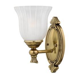 image-HK/FRANCOI1 BATH Francoise 1 Light IP44 Burnished Brass Bathroom Wall Light