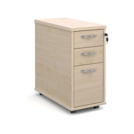 image-Tully Tall Slimline Mobile Pedestal, Maple, Free Next Day Delivery