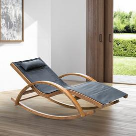 image-Senter Rocking Chair with Cushions Sol 72 Outdoor Colour: Black