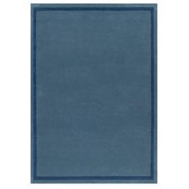 image-Border Rug - 120 x 180 cm / Blue / Wool