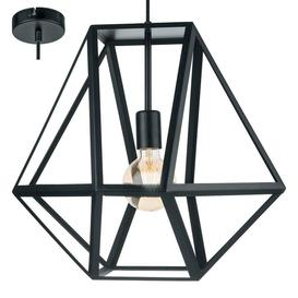 image-Eglo 49756 Embleton 1 Light Ceiling Pendant Light In Black - Diameter: 460mm