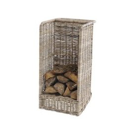 image-Toba Rattan Log Basket with Wheels