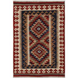 image-Dann Traditional Handmade Kilim Wool Red Rug Bloomsbury Market