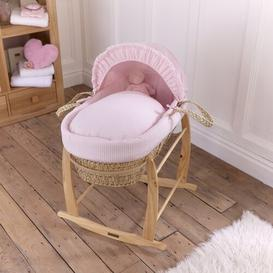 image-Waffle Moses Basket Clair De Lune Colour: Pink