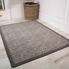 image-Moroccan Grey Washable Rug