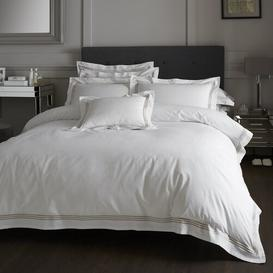 image-Amberwood 180 TC Duvet Cover Set Three Posts Bed Size: Double - 2 Standard Pillowcases, Colour: White/Latte
