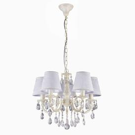 image-Freund 5-Light Shaded Chandelier Fleur De Lis Living