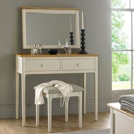 image-Brandy Wooden 3Pc Dressing Table Set In Off White And Oak