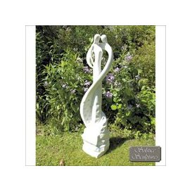 image-Tender Kiss Garden Ornament Statue White