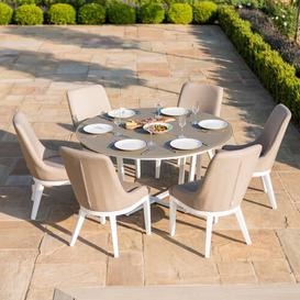 image-Kirtland 6 Seater Dining Set with Cushions Sol 72 Outdoor Colour: Brown