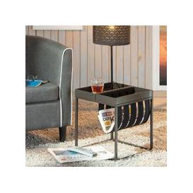 image-Club NY Magazine Metal Side Table In Anthracite
