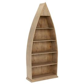 image-Verberie Reclaimed Wood Boat Bookcase