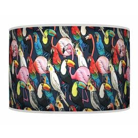 image-Polyester Drum Shade Bay Isle Home Colour: Black, Size: 26cm H x 50cm W x 50cm D, Type: Ceiling/Wall