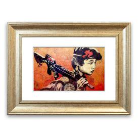 image-'Child Soldier' Framed Graphic Art East Urban Home Size: 30 cm H x 40 cm W, Frame Options: Silver