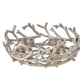 image-Porus Advent 30cm Metal Wreath Edzard