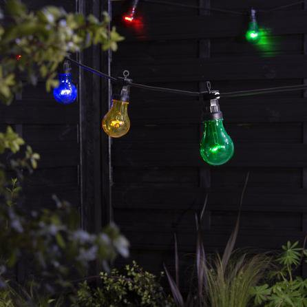 image-Multicoloured Premium Festoon String Lights Green, Yellow and Blue