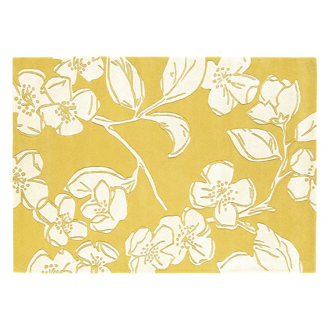 image-Dener Wool Rug, 80x150 cm, Yellow