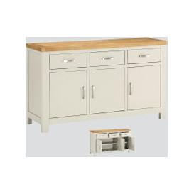 image-Andorra Painted Large Sideboard - Oak and Stone Painted