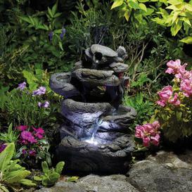 image-Tirado Polystone Fountain with LED Light Sol 72 Outdoor
