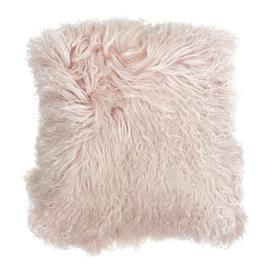 image-Mongolian Sheep Powder Pink Cushion - Long-Haired Cushion