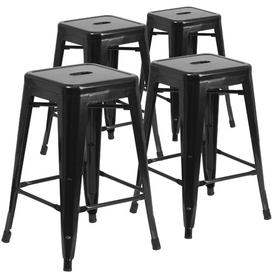 "image-""Bar Stool Blue Elephant Colour: Black, Seat Height: Counter Stool (24"""" Seat Height)"""