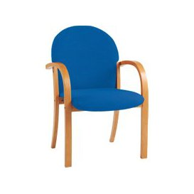 image-Braxton Wood Framed Reception Armchair, Blue, Free Standard Delivery