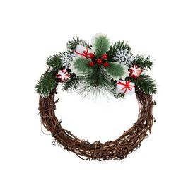 image-Nordic Decorated Rattan Wreath