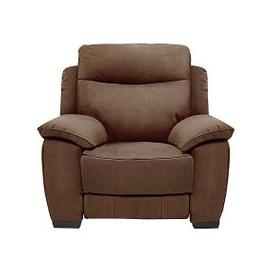 image-Starlight Express Fabric Power Recliner Armchair - Brown