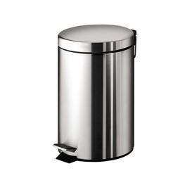 image-Veroniza Stainless Steel 3-Litre Step On Rubbish Bin Belfry Bathroom