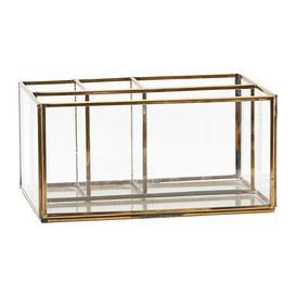 image-Monograph - Square Brass Desk Organiser