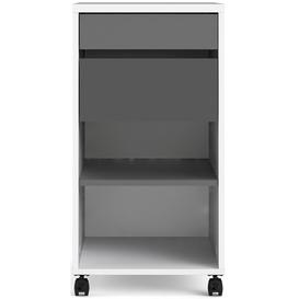 image-Function Plus White and Grey 2 Drawer Filing Cabinet