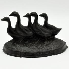 image-Kontemenos Ducks Cast Iron Floor Door Stop August Grove