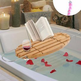 image-Janice Extendable Bamboo Bath Rack Belfry Bathroom
