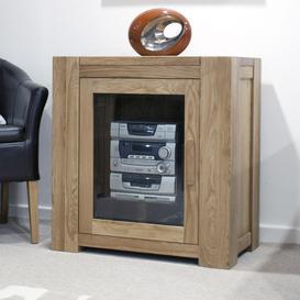image-Trend Solid Oak Furniture Hi Fi Unit