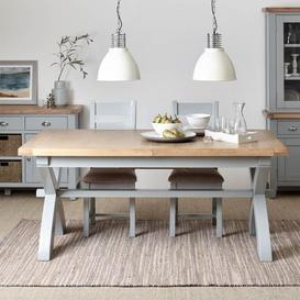 image-Bilbury Painted Oak Extending Dining Table 180cm extending to 230cm