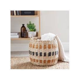 image-Butterscotch Rush Basket Brown and Blue