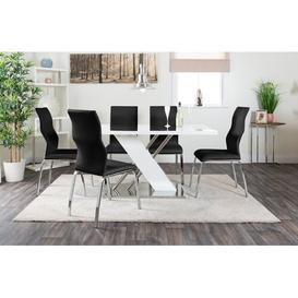 image-Trapp Dining Table with 6 Chairs Metro Lane Colour (Chair): Black