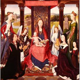 image-The Virgin and Child with Saints and Donors a Panel from 'The Donne Triptych' C.1478 by Hans Memling Framed Art Print East Urban Home
