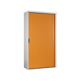 image-Solero Tall Tambour Unit (Orange), Orange, Free Standard Delivery