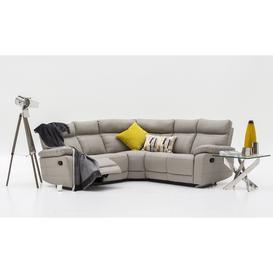 image-Vida Living Furniture Positano Light Grey Leather Reclining Corner Sofa Group