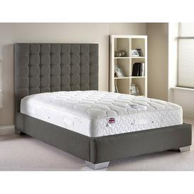 image-Keswick Upholstered Bed Frame Fairmont Park Size: Small Single (2'6), Colour: Grey