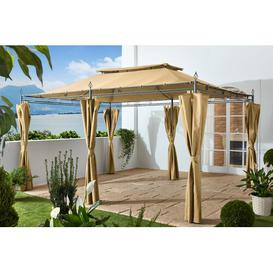 image-Holl 4m x 3m Steel Patio Gazebo Sol 72 Outdoor Ceiling colour: Beige