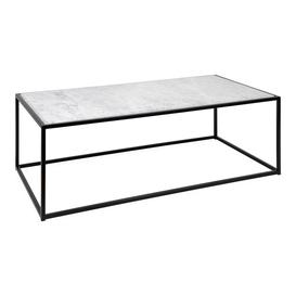 image-Heal's Tower Coffee Table Black White Marble Top