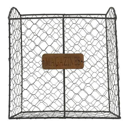 image-Wire Magazine Rack Brown