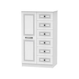 image-Oyster Bay Signature White 1 Door Children Wardrobe