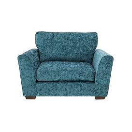 image-High Street Oxford Street Fabric Loveseat - Teal