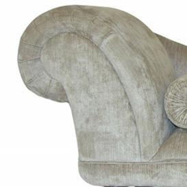 image-Loretta Chaise Longue Fairmont Park Upholstery: Zaffiro Gala, Leg Finish: Cream, Orientation: Left-Hand Chaise