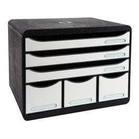 image-Mcgrath Desk Organiser Symple Stuff Colour: Black/White