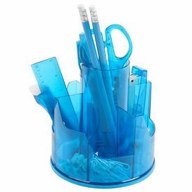 image-Stationery Desk Organiser Set Symple Stuff Colour: Blue